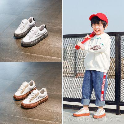 童鞋春季新款儿童运动鞋男童小白鞋女童2018韩版休闲板鞋学生鞋潮