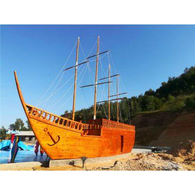景观船 大型仿古海盗船 兴化木船 景观装饰木船生产制造厂家