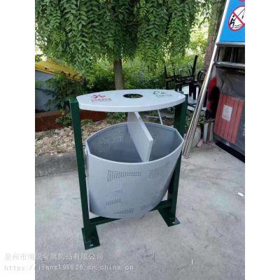 厂家直销 镀锌板 钢制户外常规垃圾箱 环卫垃圾桶 分类垃圾桶