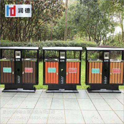 福州厂家直销公园钢木垃圾桶 景区垃圾桶 街道钢木果皮箱