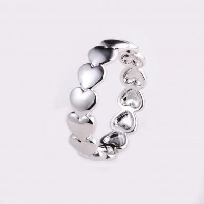 伊泰莲娜品牌直销S925纯银戒指镶锆石款铜戒指女式时尚气质镶钻饰品批发款式多样