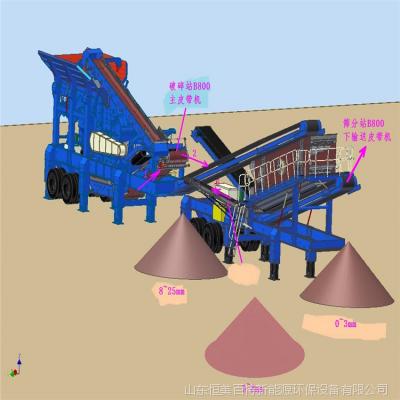产地货源 2019新款移动破碎打沙机 新式石头粉碎机 粉碎式碎石机