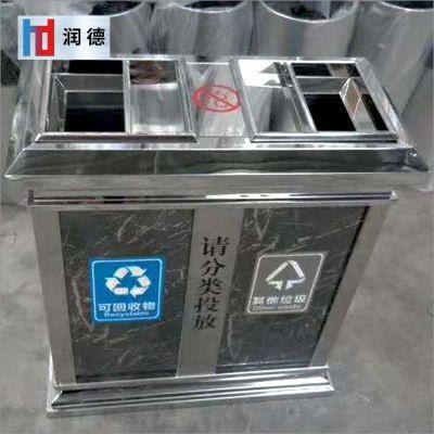 不锈钢垃圾桶室外垃圾桶方形公园小区钢制垃圾箱304不锈钢垃圾箱