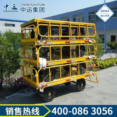 2t平板拖车,载重平板拖车,厂区2t平板拖车,物流用平板车