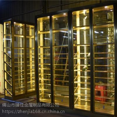 豪华酒店拉丝不锈钢屏风 花格高端定制欧式不锈钢酒柜
