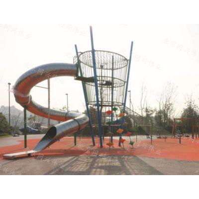 公园304不锈钢滑梯 商场高空螺旋滑梯 专业非标定制 景观游乐组合滑梯设备