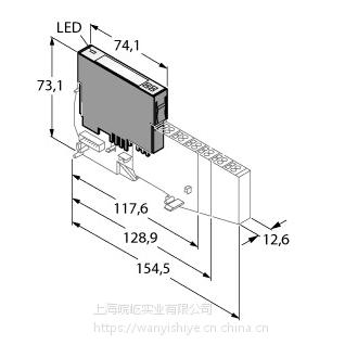 图尔克BL20电子总线模块(BL20-E-8DI-24VDC-P)
