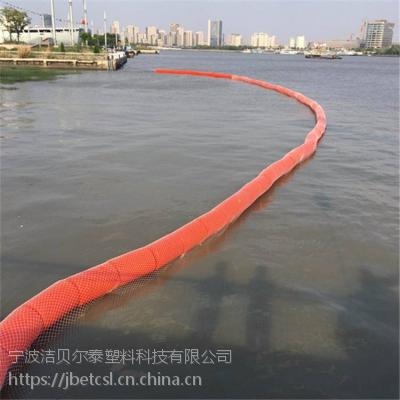 运河拦截漂浮物设备抗老化拦污浮漂安装