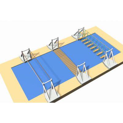 北京水上拓展训练 水上冲关拓展设施 儿童水上乐园设备 北京同兴伟业直销定制