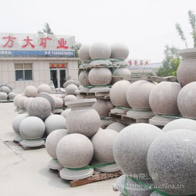 路障石球,景观路障石墩,石球,花岗岩石球,五莲方大石材