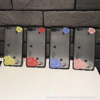 iphoneX手机壳欧美花朵苹果6s保护套全包防摔8plus磨砂外壳