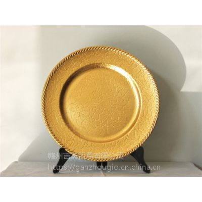 赣州厂家直销创意优质pp塑料盘塑料餐具裂纹绳边装饰,节日用品,YF-60724