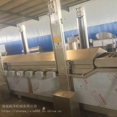 厂家直销高效豆干油炸机 连续式油炸机 带底部刮渣