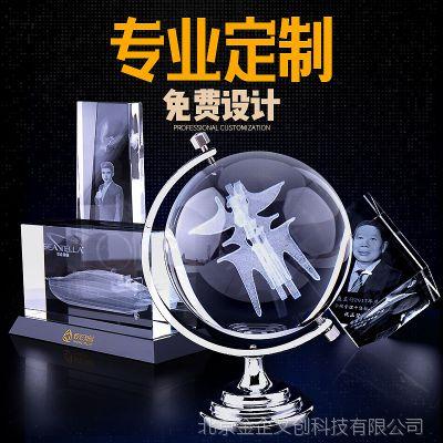 国金工匠水晶内雕定制 楼模建筑3D模型激光内雕 高档庆典纪念礼品定做