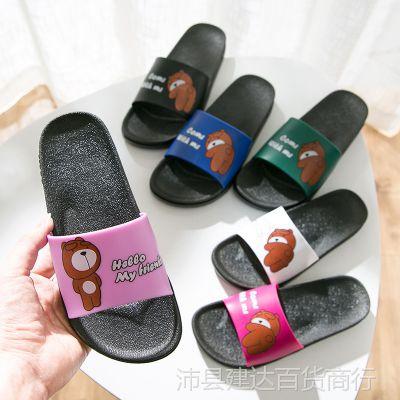 卡通拖鞋女夏室内外家居凉拖鞋厚底防滑洗澡浴室情侣拖鞋家用拖鞋