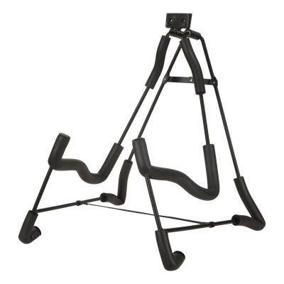 折叠吉他架弯线折叠座式A型人字钢筋式海绵金属铁质广州拾麦乐器