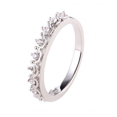 广州伊泰莲娜微镶锆石电镀铜戒指女式 铜首饰银饰品 承接来图来样珠宝首饰加工 番禺跨境饰品