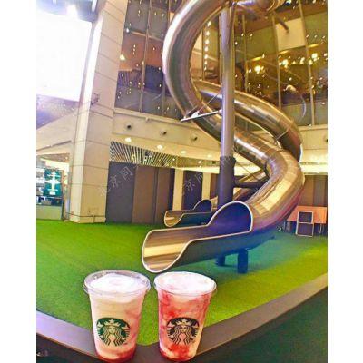 北京同兴伟业直销商场不锈钢滑梯 非标定制滑梯 户外儿童乐园设施 无动力游乐设备